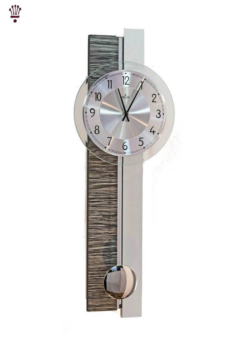 Large Frosted Glass Annaliese Quartz Wall Clock The Clock Store