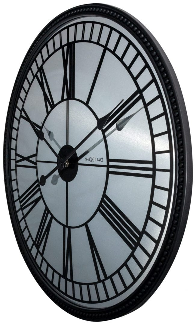 Large Black Cleopatra Mirror Wall Clock The Clock Store